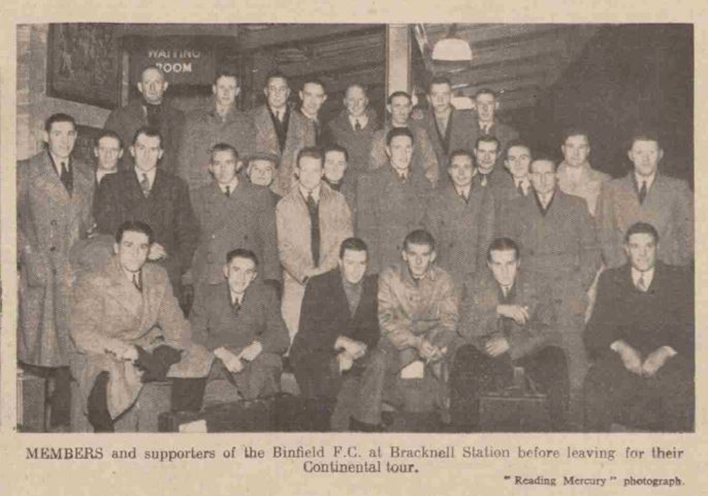 When Binfield FC went on a European jaunt