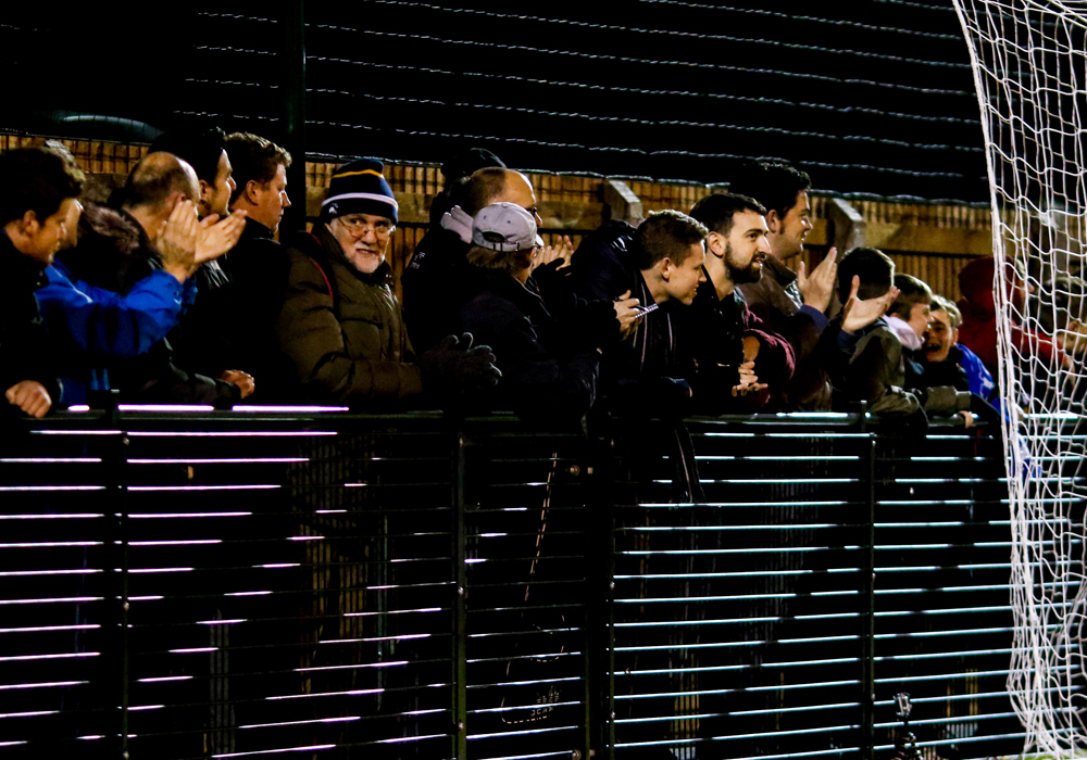 The crowd at Larges Lane Bracknell Town FC. Photo: Neil Graham.
