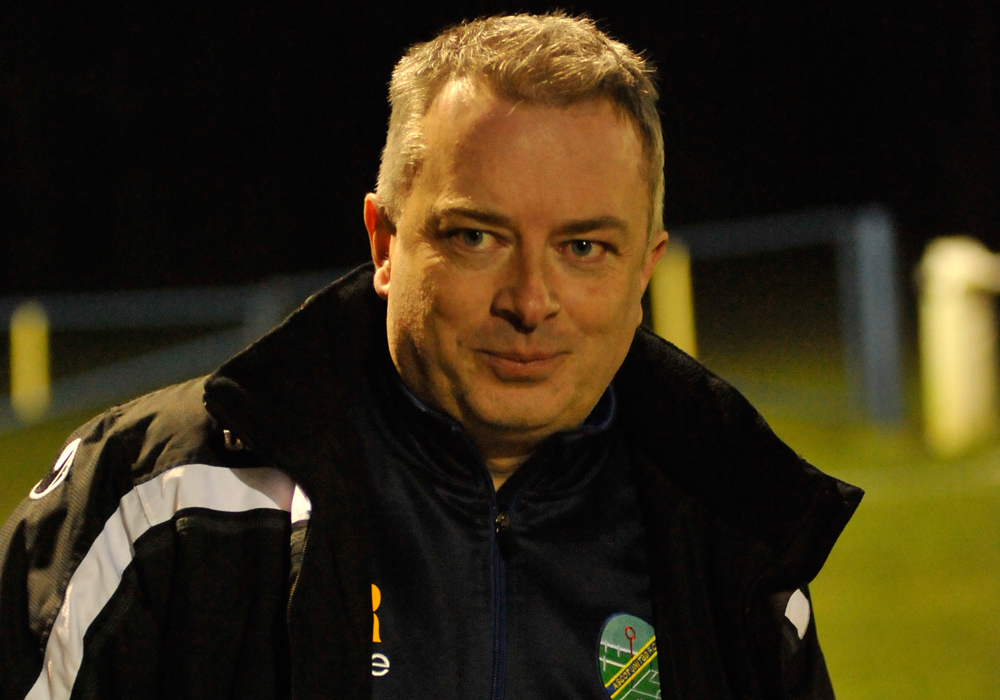 Ascot United manager Neil Richards. Photo: Mark Pugh.