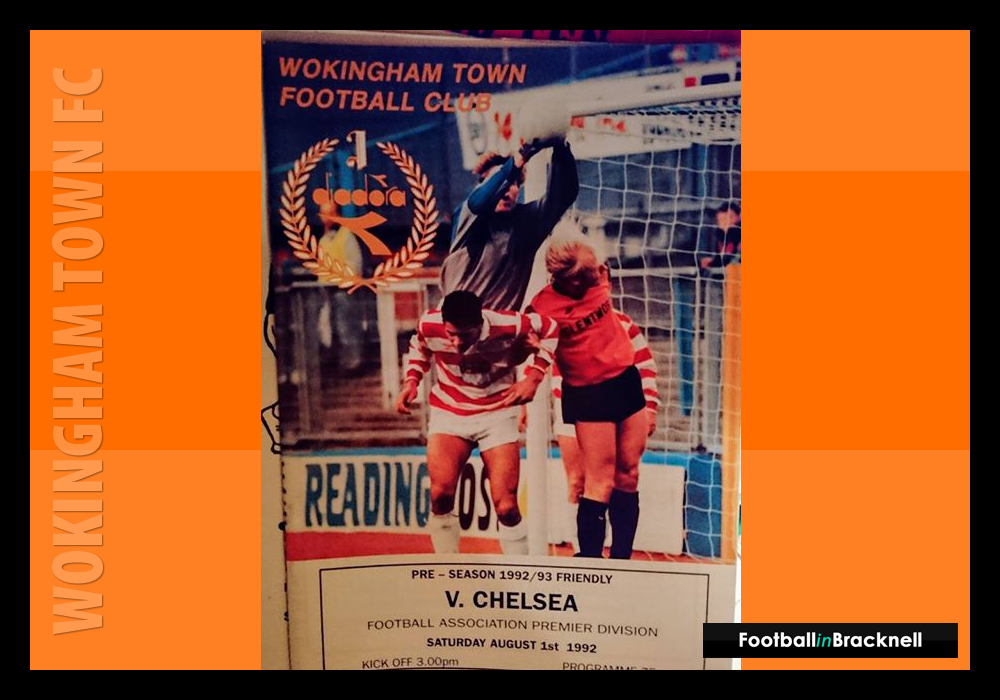 Programme from Wokingham Town vs Chelsea FC. Photo: Sean Chandler.