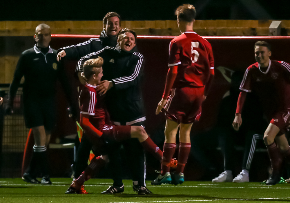 Wild celebrations at Bracknell Town FC. Photo: Neil Graham.
