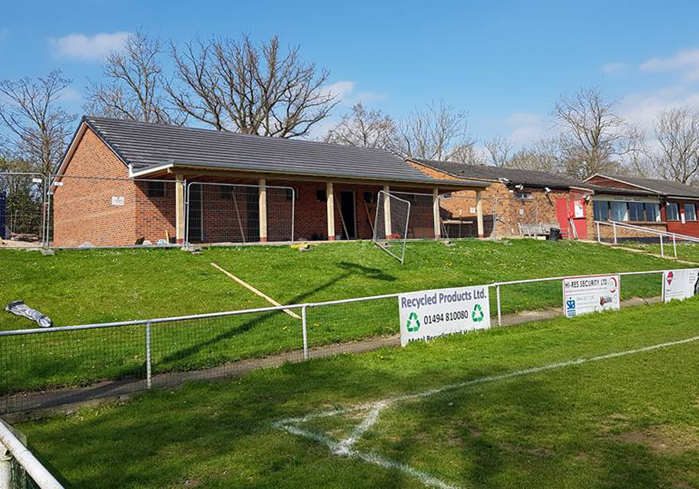 Latest images from Binfield FC development show they've put a lid on it
