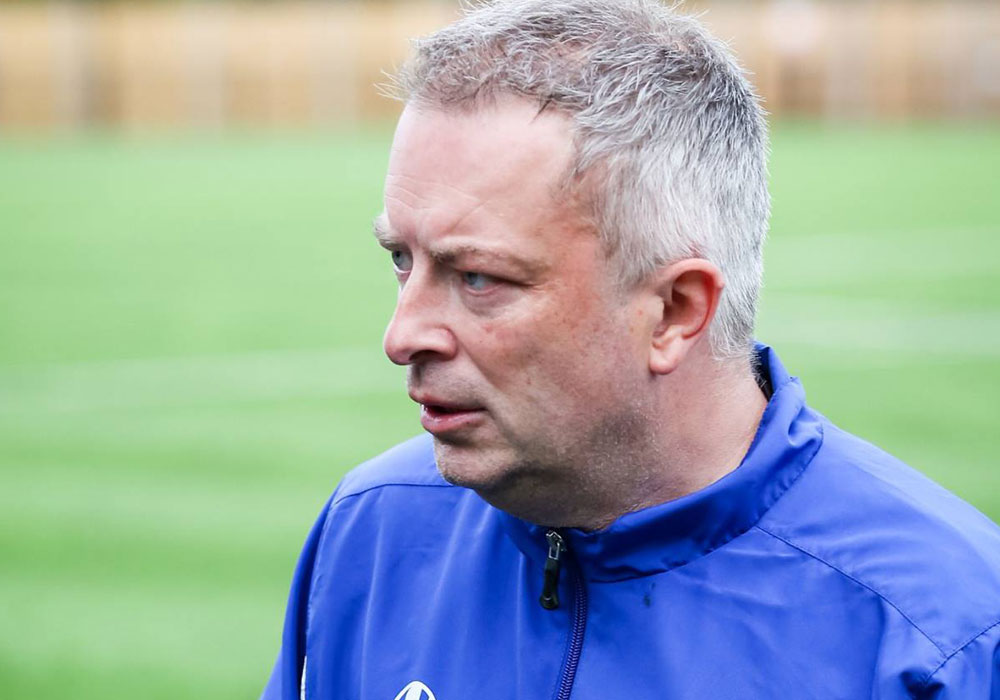 Ascot United manager Neil Richards. Photo: Neil Graham.