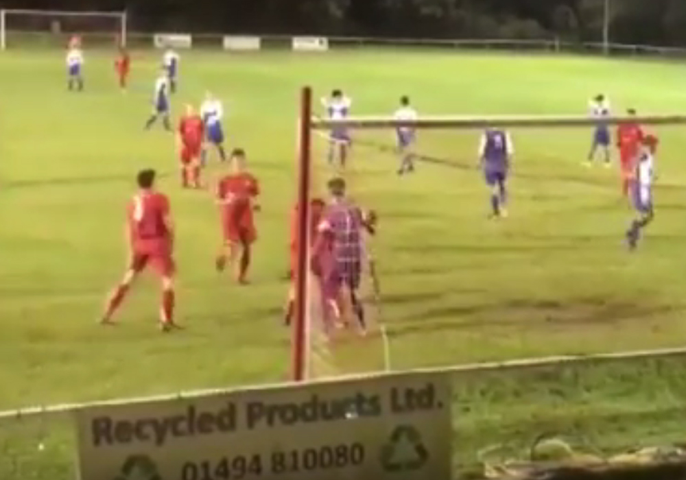 Watch Elliot Thompson's penalty save that helps Binfield FC youth to big win
