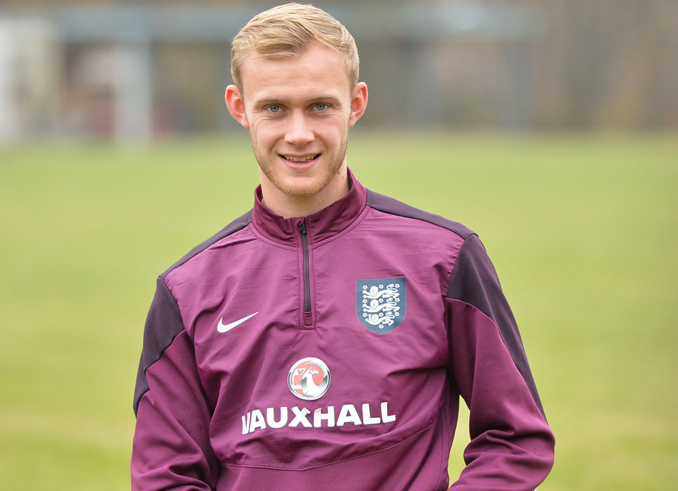 Sam Barratt with England C. Photo: David Loveday.