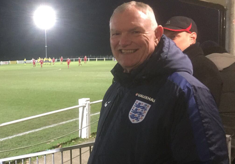 FA Chairman Greg Clarke pays visit to Ascot United FC