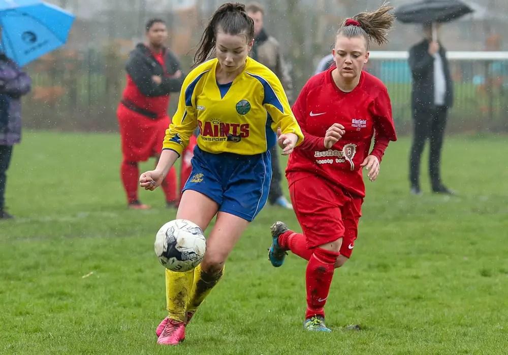 Binfield Ladies vs Ascot United Ladies. Photo: Neil Graham.