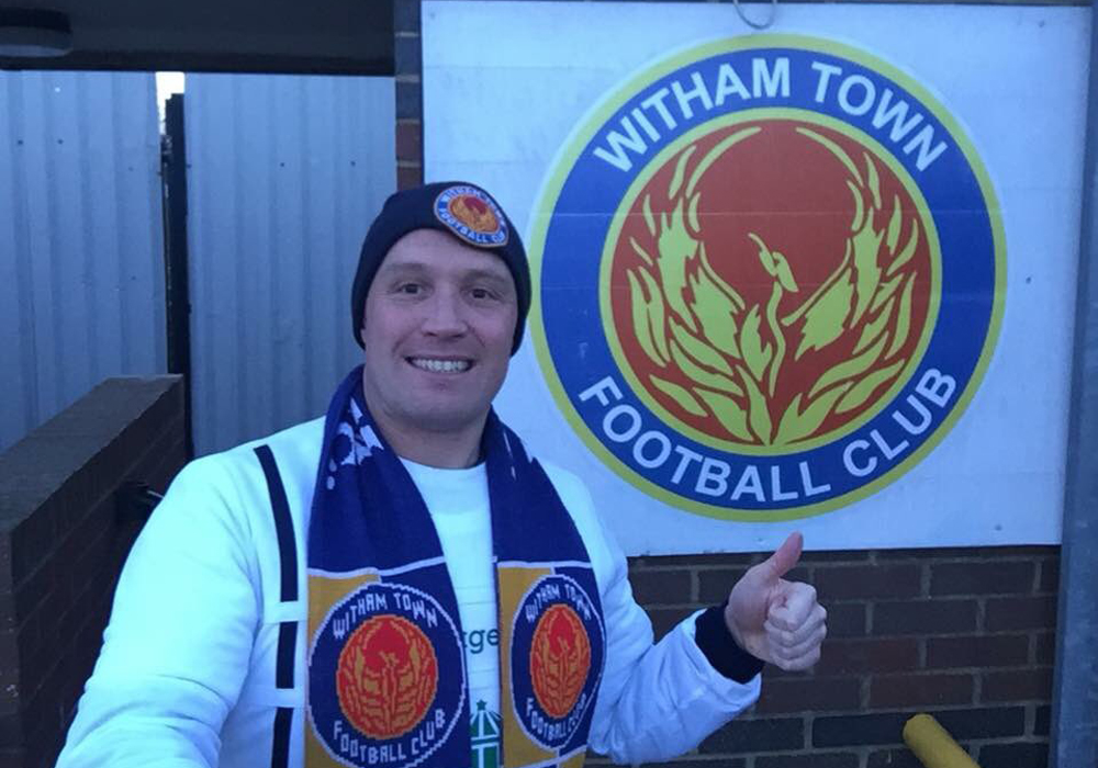 Witham Town. Photo: Andy Campbell.