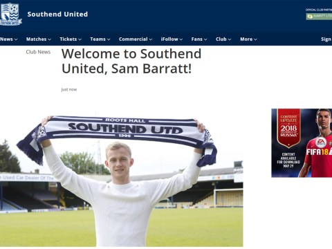 Sam Barratt officially unveiled as a Southend United player