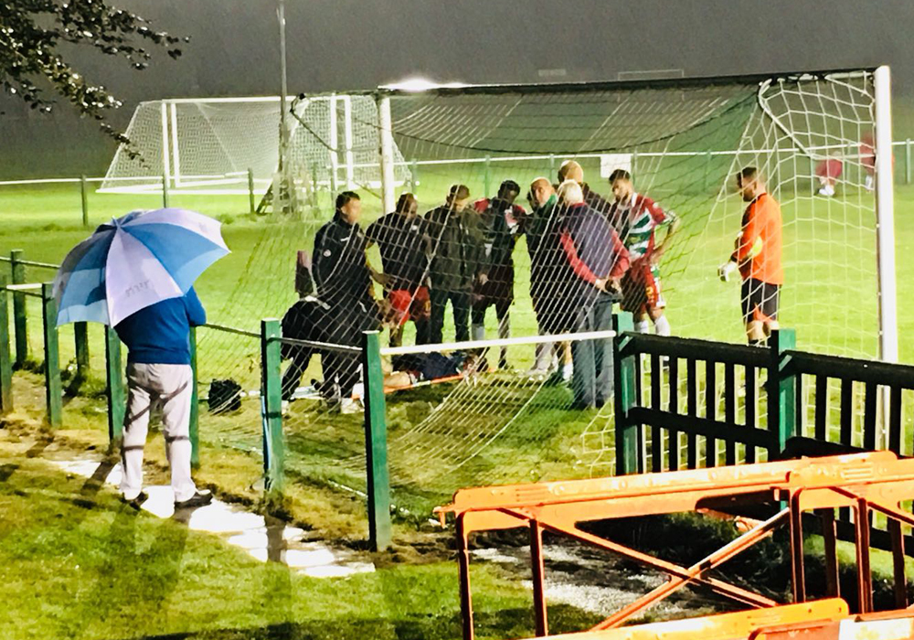Dan Roberts stretchered off as Windsor finish with 9 in Hellenic League defeat