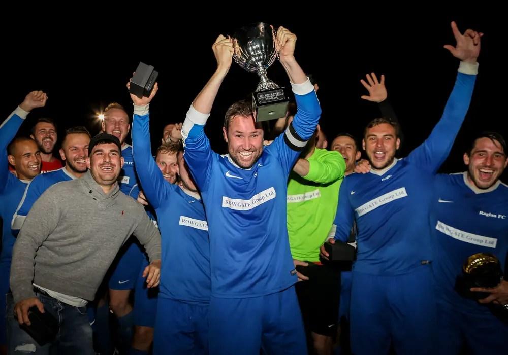 Raglan lift the Dave Scovell Goals Cup. Photo: Neil Graham.