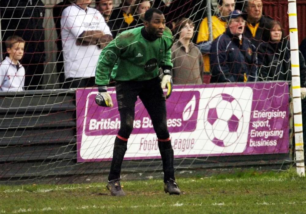 Former Bracknell Town goalkeeper Max Aneke.