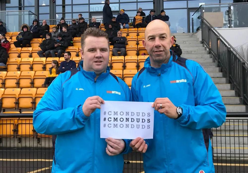 Slough Town managers Neil Baker and Jon Underwood. Photo: Jon Underwood.