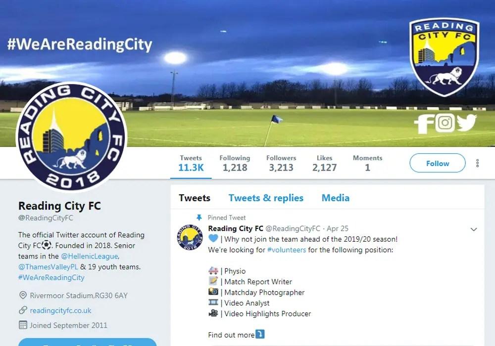 Reading City nominated for Bracknell Football Award