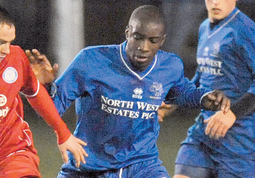 Yashwa Romeo playing for Marlow. Photo: Maidenhead Advertiser.