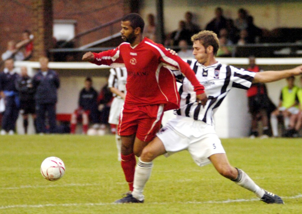 Errol Telemaque for Bracknell Town against Maidenhead United
