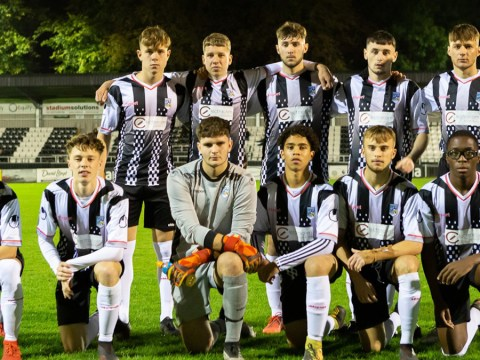 Maidenhead United flying FA Youth Cup flag for Berkshire