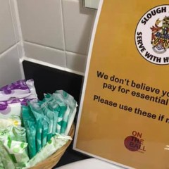 Slough Town join campaign to provide free period products for supporters