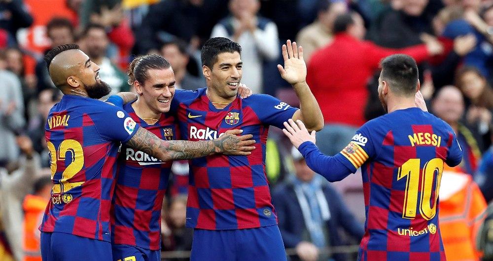 बार्सिलोना भर्सेस अलाभेस : पहिलो हाफमा बार्सिलोना २–० ले अगाडि