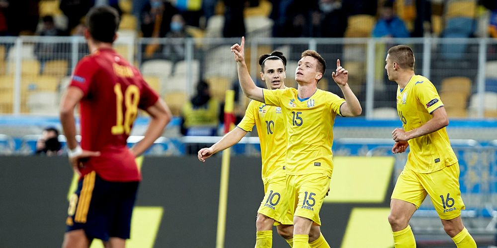 नेसन्स लिग : फ्रान्ससँग ७–१ ले हारेको युक्रेनले स्पेनलाई हरायो !