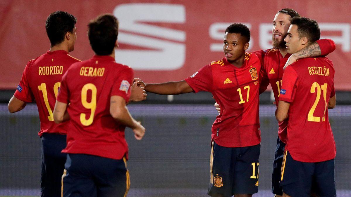 जर्मनी र नेदरल्यान्ड्सविरुद्ध खेल्ने स्पेनको टोली घोषणा