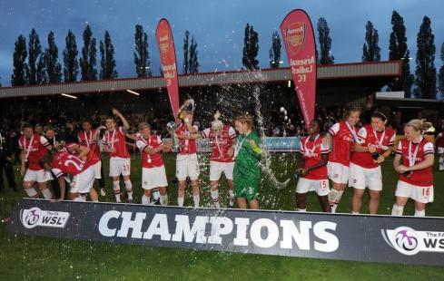 Women's Super League Winners 2012: Arsenal Ladies.