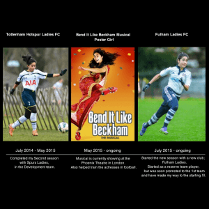 Tanvie Hans, from footballer to poster girl for Bend it like Beckham