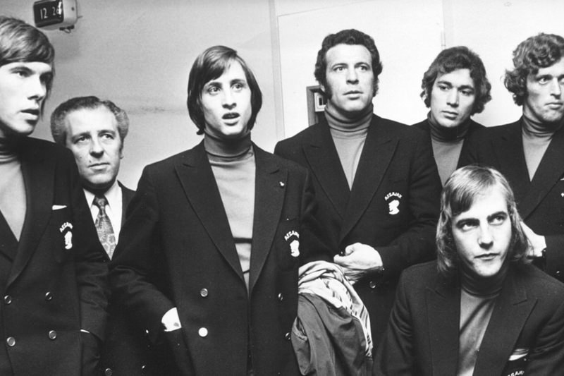 Johan Cruyff and his band, proponents of Total football