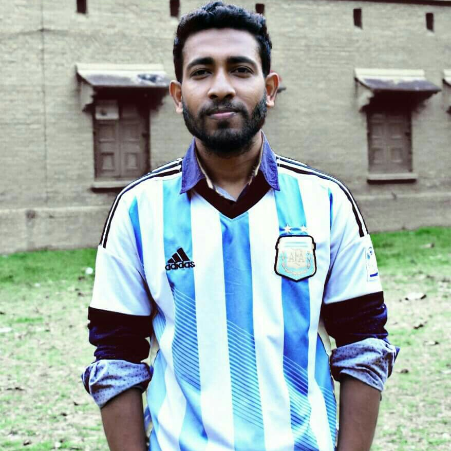 Pintu Paltan, an avid Argentina fan who heads a facebook football in Bangladesh fan group which brings other fans from Bangladesh together