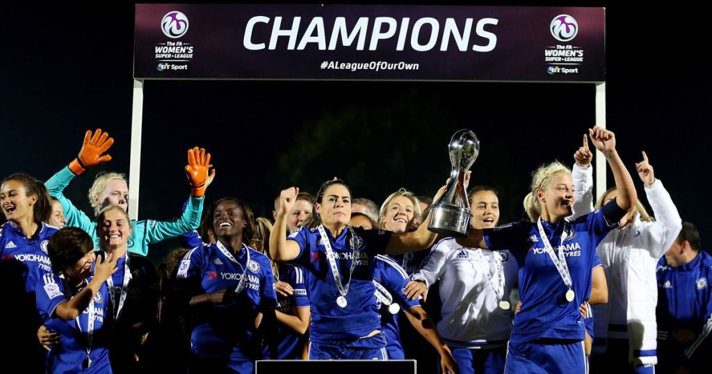 Chelsea Ladies, winners of the Women's Super League 2015-16. (Image: Steve Paston/Press Association Wire)