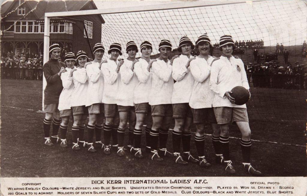 Lily Parr for Dick, Kerr International Ladies in 1921