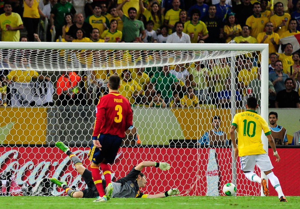 Neymar put a stunning display against Spain in the final of the Confederations Cup.