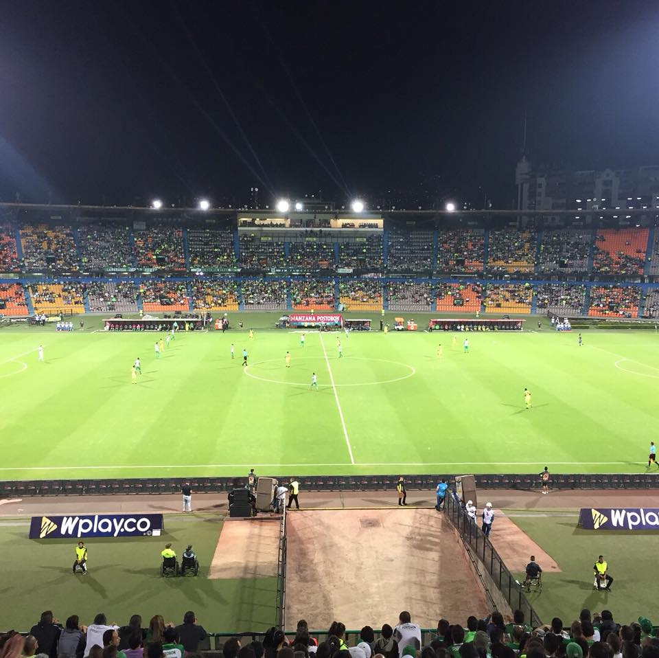 Estadio Atanasio Girardo, home to Atlético Nacional and Independiente Medellín, two of the biggest clubs in Colombia