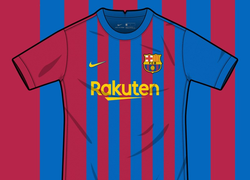 Barcelona X Nike Home Shirt Concept by Pineftbl @pineftbl #barca #fcbarcelona #kitdesign #conceptkit