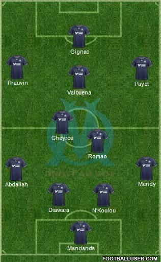 Olympique de Marseille 4-3-2-1 football formation