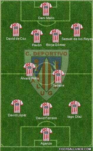 C.D. Lugo football formation