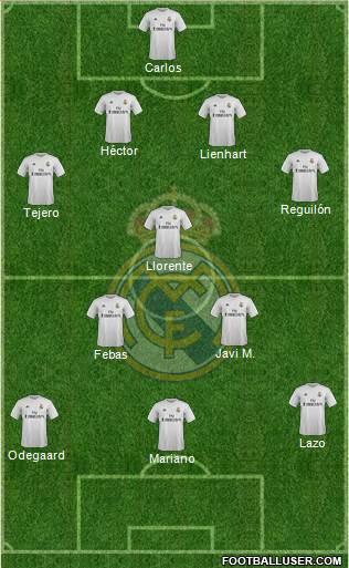 R. Madrid Castilla 4-3-2-1 football formation