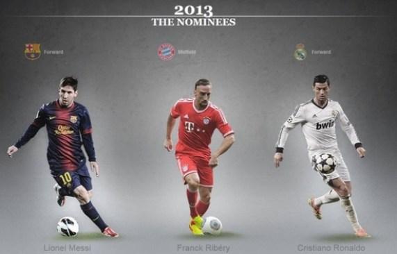Expected Top 3 Player of ballon dor 2013