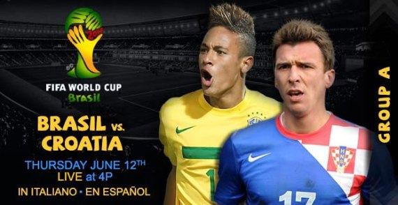 Brazil vs Croatia 2014 Live Streaming Free