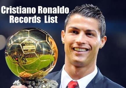 Cristiano Ronaldo Records List