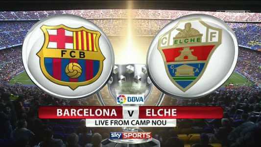 Barcelona vs Elche telecast in India, IST Time