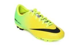 Nike Kids Yellow Mercurial Victory lv Fg Football