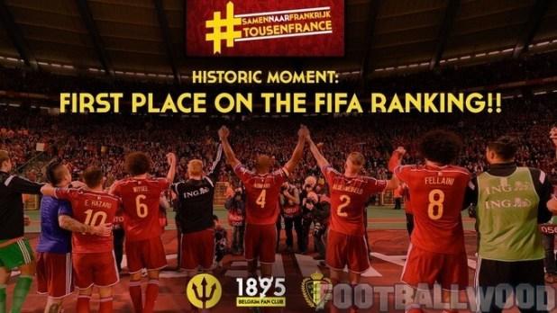 Belgium 1st rank team in football