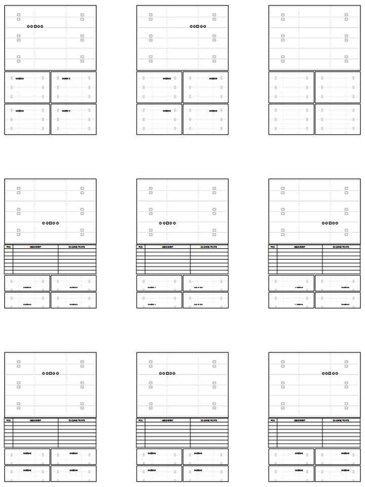 photo about Printable Blank Football Formation Sheets named Blank Sector Templates