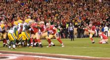 Referee Jerome Boger on a 49ers extra-point attempt. (San Francisco 49ers photo)
