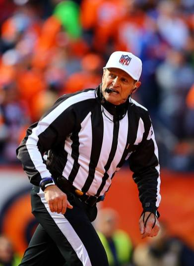 Ed Hochuli making the call (Denver Broncos)