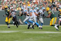 Carl Cheffers gives chase (Detroit Lions)