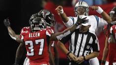 John Hussey flags Cam Newton (Carolina Panthers)