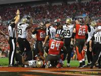 The Anderson crew calls a safety (New Orleans Saints)