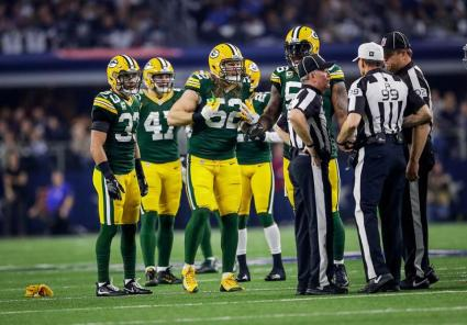 Jeff Bergman, Tony Corrente and Bruce Stritesky (Green Bay Packers)